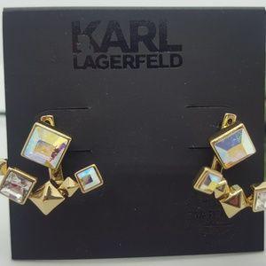 Karl Lagerfeld Pyramid Ear Jackets earrings